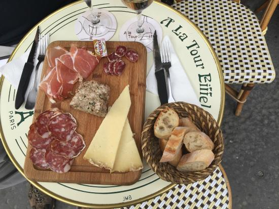 A la Tour Eiffel Meat and cheese plate & Meat and cheese plate - Picture of A la Tour Eiffel Paris - TripAdvisor