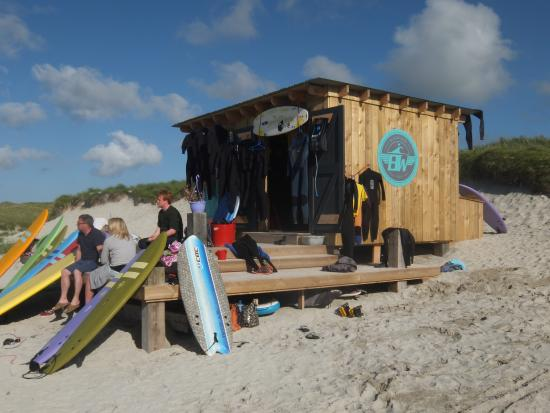 Suds Surf School & Blackhouse Watersports Beach Hut at Balevullin, Isle of Tiree