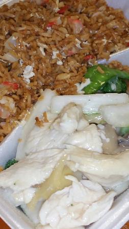 Wilton Manors, FL: Beef and broccoli and moo goo gai pan