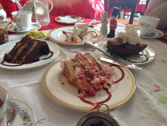 Wilton Manors, FL: Just a sampling of the fabulous desserts!