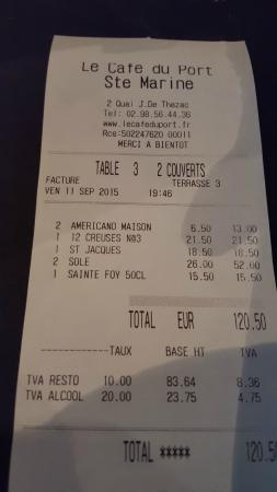 Sainte-Marine, France: The bill
