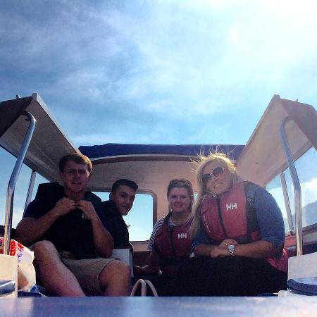 Bowness-on-Windermere, UK: Enjoying the views in our boat 'Katie'