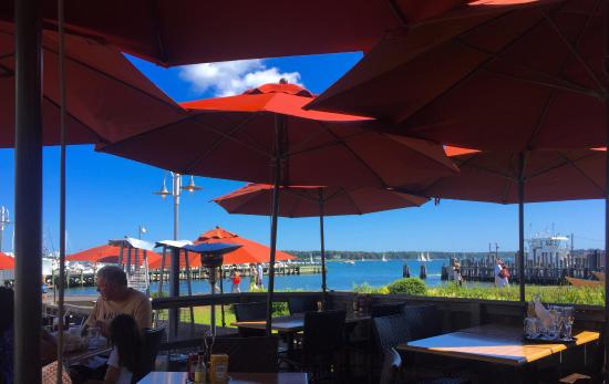Blue Canoe Oyster Bar: View
