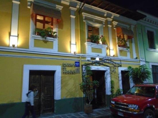 Octava de Corpus: View from the street - facade