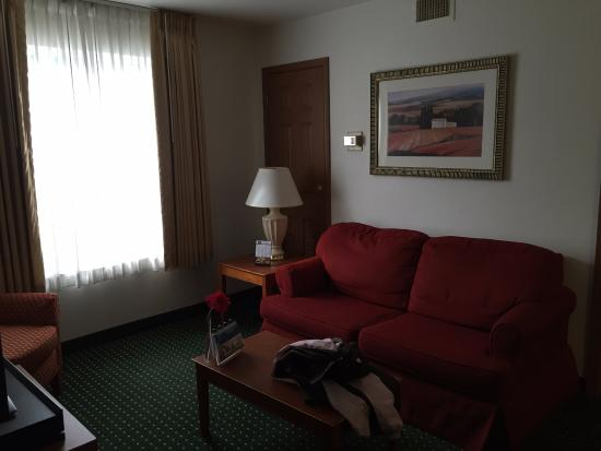 TownePlace Suites East Lansing: Living Area with Sofa Bed