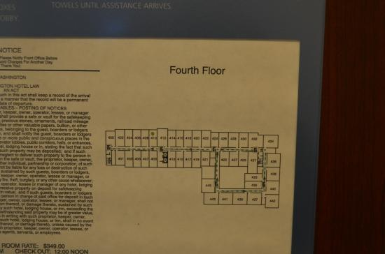 Hampton Inn & Suites Tacoma-Mall: Hotel map