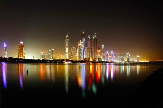 ABSea Yachts & Boats Rental: Skyline of Dubai shot during Night Dubai City Tour