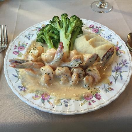 Shrimp escoffier picture of le chene french cuisine for All about french cuisine
