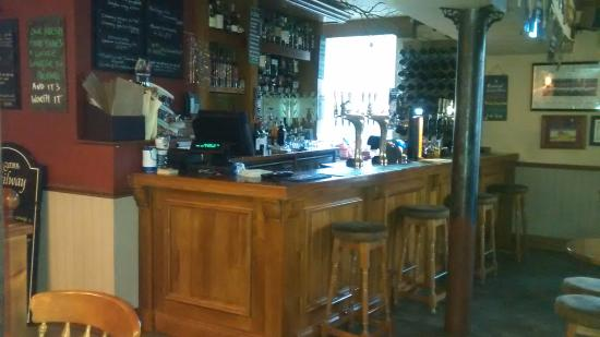Usk & Railway Inn: The bar area