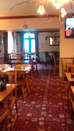 Usk & Railway Inn: The restaurant area