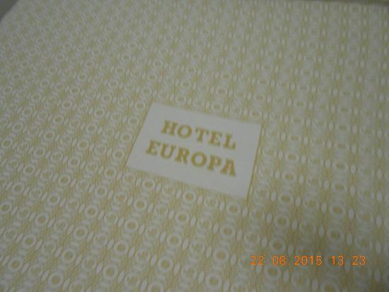 Hotel Europa : letto