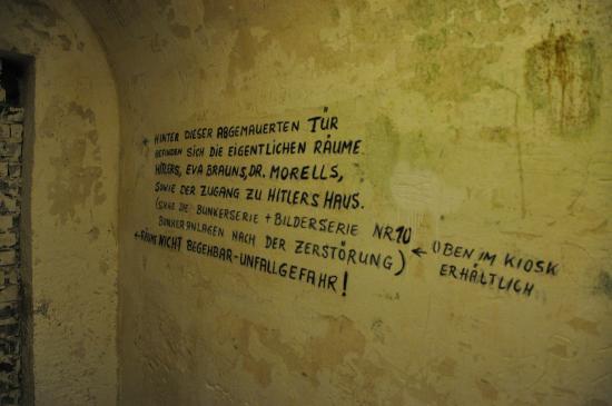 Hotel Zum Turken WWII Bunkers : German and English description on walls