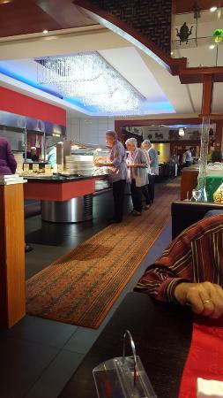 Asia Restaurant Mongolei: Blick auf das Buffet