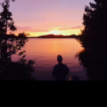 St. Regis Canoe Outfitters: Sunset over Saranac Lake from Buck Island