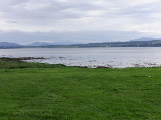 Bunchrew, UK: View from our tent - Beauly Firth