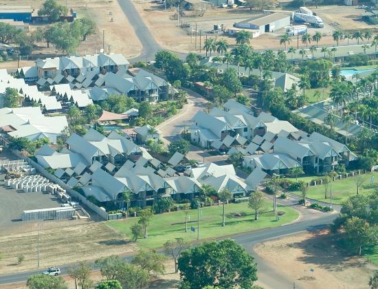 Freshwater East Kimberley Apartments : Freshwater Apartments from the air - a great place to stay!