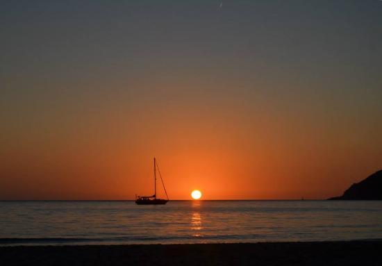 Portixeddu, Italia: Il tramonto