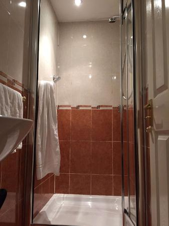 Springfield B&B: Dusche mit Schimmel an der Decke