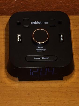 americas best value inn my room and the cool alarm clock with plugins for