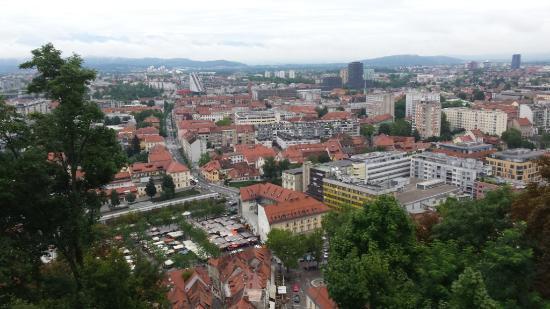 Ljubljana Old Town: Panorama dal castello
