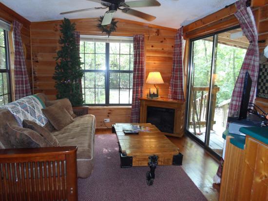 Fiddler's Roost Cabins : living room