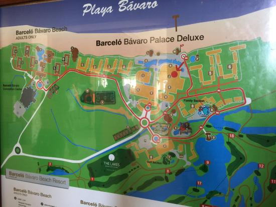 Barcelo Bavaro Palace Map Of The Grounds