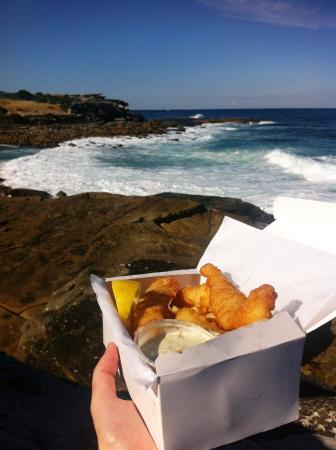 Seasalt Cafe: Fish and Chips at Clovelly