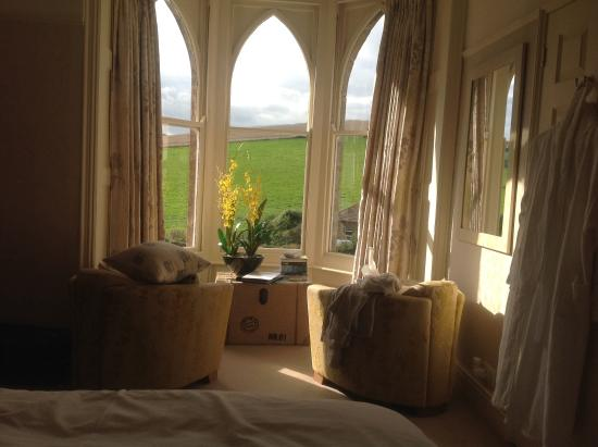 Bindon Bottom B&B : Lovely view from the Hardy room