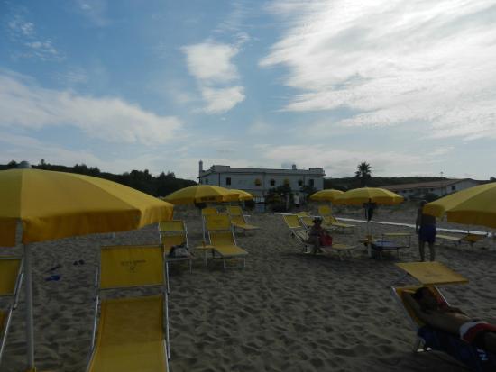 Hotel Laura: veduta dell'Hotel dalla spiaggia