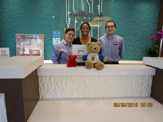 hilton garden inn wallingford meriden red and thornton with the front desk crew - Hilton Garden Inn Wallingford Ct