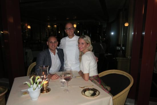 with chef heinz beck foto di la pergola roma tripadvisor. Black Bedroom Furniture Sets. Home Design Ideas