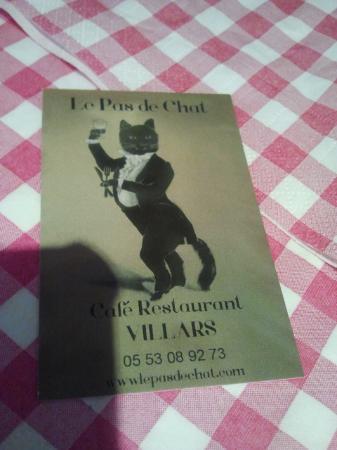 Le Pas de Chat Cafe Restaurant: L'affiche