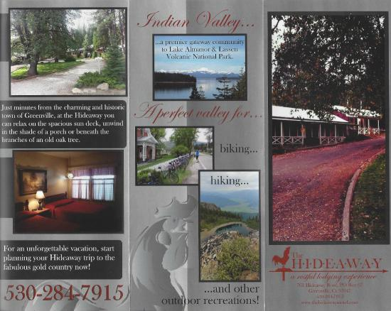The Hideaway Motel: Hideaway Brochure page 1