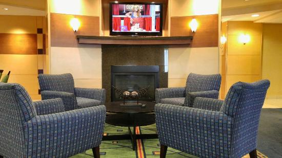 SpringHill Suites Portland Vancouver: Hanging in lobby because I couldnt get a late check-out