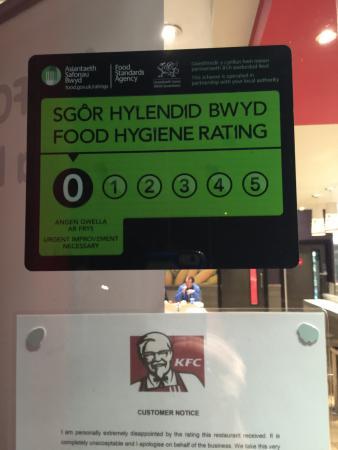 Food Hygiene Rating 0 Picture Of Kfc Pontypool