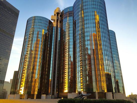 bridge to YMCA - Picture of The Westin Bonaventure Hotel & Suites, Los Angeles, Los Angeles ...