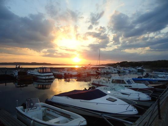 Vestfold, Norwegen: Utsikt fra restauranten i Helgeroa