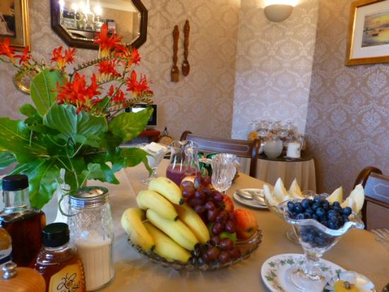 Brockville Bed and Breakfast: Fresh fruit selection at Breakfast.