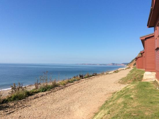 Branscombe, UK: The view from the chalet