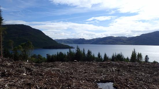 Knoydart Peninsula: View from the top of the hill