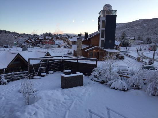 Ski Sur Apartments: vista da janela do quarto