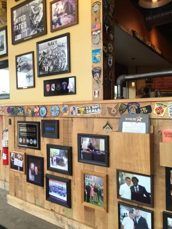 Nottingham, MD: All the walls are decorated with inspiration sayings to thank military and first responders