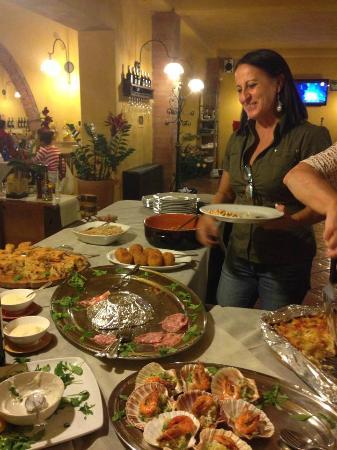 Montespertoli, Italia: buffet !!!