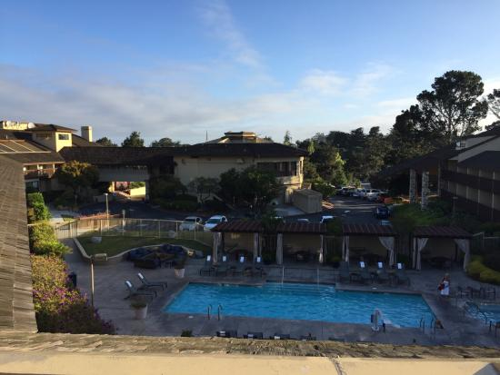 View of pool picture of hilton garden inn monterey for Pool show monterey