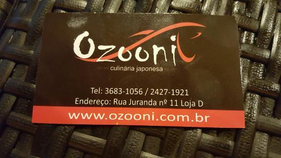 Ozooni Culinaria Japonesa