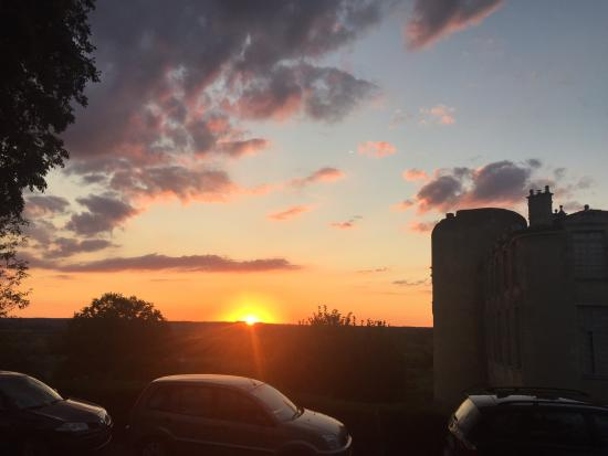Montcaret, Frankrike: Duras sunset