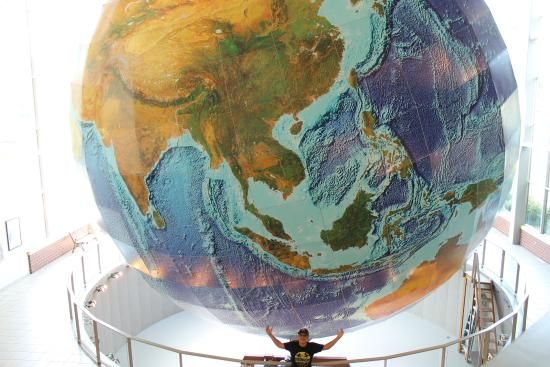 Yarmouth, ME: Holding the Globe in his hands