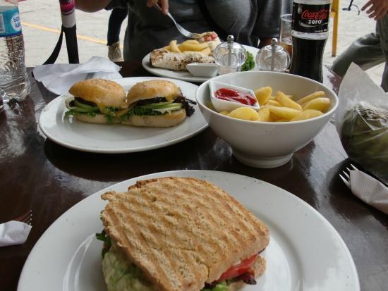 La Esquina Cafe-Bakery: BLT with guac and papas frita