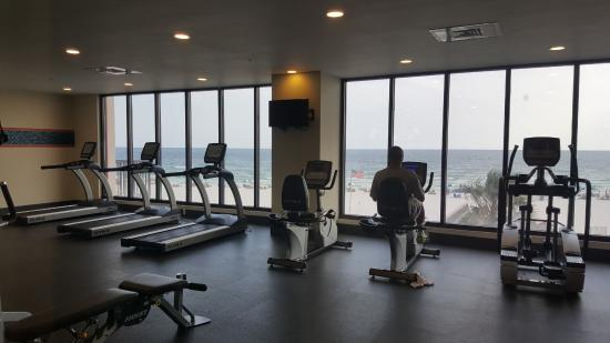 Hampton Inn Suites Orange Beach Fitness Room With A View