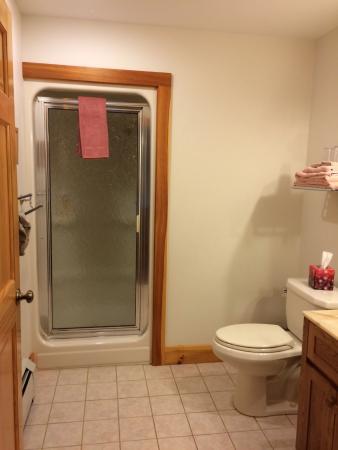 South Meadow Farm Lodge: Maple Room's Shower